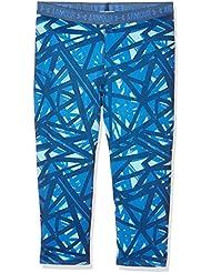 Under Armour Printed Capri Leggings Deportivos, Niñas, Azul (Venetian Blue), YSM