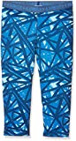 Under Armour Mädchen Printed Armour Capri, Venetian Blue, YM