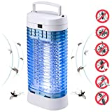QcoQce Insektenvernichter, Mückenlampe Wasserdichte Insektenfalle - IPX4, Eine leistungsstarke 9W Leuchtstoffröhre, effektive Bekämpfung von fliegenden Insekten, Um Mückenstiche zu Vermeiden. (Blau)