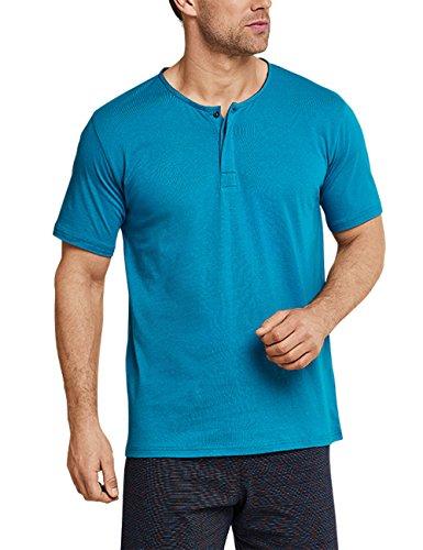 Schiesser Herren Zweiteiliger Schlafanzug Anzug Kurz 159636, Blau (Türkis 807), X-Large