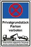 Parken verboten Schild Nr -54- in verschiedenen Größen und Materialien, hier Größe DIN A4 295 x 210 mm, Material Kunststoff ohne Befestigung