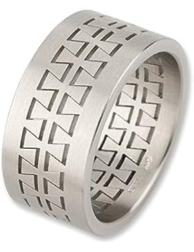 ADAMO Edelstahl-Herren-Ring mit 3-teiliger Optik
