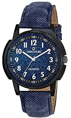 Decode Analogue Blue Dial Boy'S And Men'S Watch-Gr-712 Jeans Look Elegant