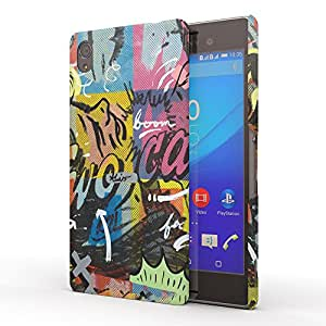 Koveru Designer Printed Protective Snap-On Durable Plastic Back Shell Case Cover for Sony XPERIA M4 Aqua - Boom on face