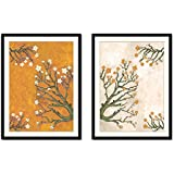 Art Tantra Set Of 2 Beautiful Flower Colorful Painting With Frame ,glass And Mount Board.Ready To Hang With Black Frame Modern Abstract Textured Canvas Painting Wall Art Frame For Home Decoration Beautiful Abstrat Art For Wall Decoration Of Wall Hanging L