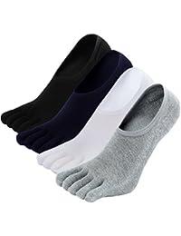 Mogao Caves No Show Invisible Calcetines Dedos Hombres Calcetines de Deportes de Algodón,Calcetines con