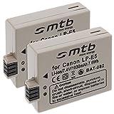 mtb more energy – 2x Akku LP-E5 (1030mAh) für Canon EOS 450D, 500D, 1000D, Rebel T1i, Rebel XS, Rebel Xsi