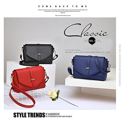 Yoome Cross Pattern Retro Flap Bag Borsa da donna Messenger Borsa Borse e portafogli Vintage - L.Grey Blu