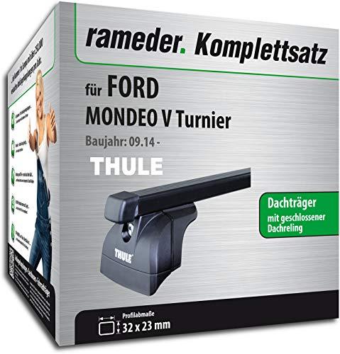 Rameder Komplettsatz, Dachträger SquareBar für Ford Mondeo V Turnier (117785-13127-1)