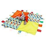 Sharplace Schmusetuch Schmusetücher Schnuffeltuch Kuscheltuch Tier Motiv Kuscheltier Schmusetiere Greifspielzeug Kleinkindspielzeug Baby Geschenk zur Geburt - Elefant