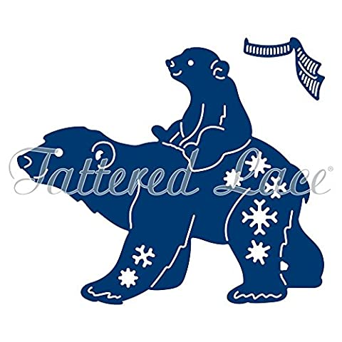 Tattered Lace Polar Bears, Silver