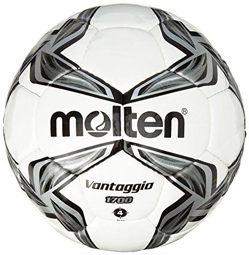 Molten Fussball Trainingsball 1700 Series, Schwarz/Weiß, 4 Stück -
