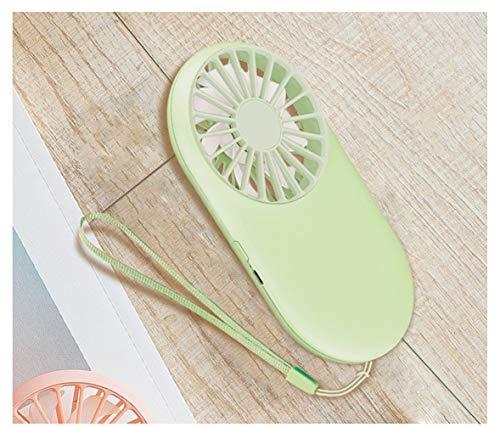 Yeying123 Portatile USB di Ricarica Mini Ventilatore palmare Studente all\'aperto con Cordino Portatile Tascabile Ventilatore,Green