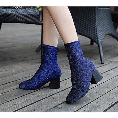 Ch & Tou Zapatos De Mujer-botines-ocio-otros -piel Mate-azul / Violeta / Gris Gris