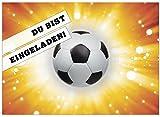 16 Einladungskarten zum Kindergeburtstag - Motto Fussball Einladung - für Kinder, Jungen, Party, Feier, Jungs, Geburtstagseinladungen im Set