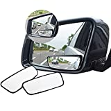 Meipro 360 ° Rotate Blind Spot Mirror, Adjustabe Grand Angle Retroviseur HD Verre Convex Side View Mirror for Car