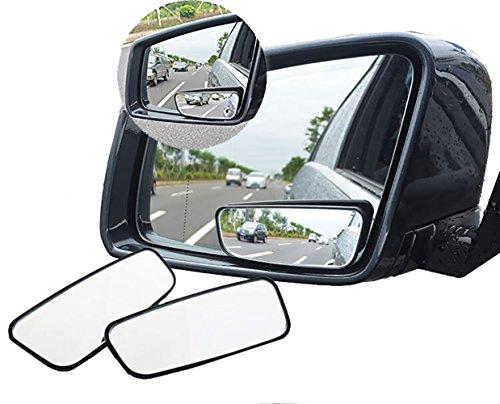 Meipro Espejo De ángulo De Visión Giratoria De 360 °, Adjustabe Espejo De Visión Lateral Gran Angular Espejo De Visión Lateral Convexo De HD Para El Coche