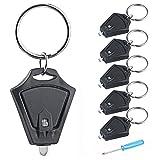 Tagvo 6 Satz LED Keychain Taschenlampe mit Mini Schraubenzieher, zwei on-off Weg tragbare Mini Schlüsselring Fackel Licht, leichte batteriebetriebene Taschen Notleuchte
