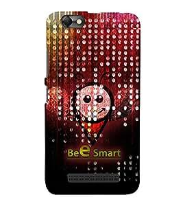 Bee Smart 3D Hard Polycarbonate Designer Back Case Cover for Lenovo Vibe C