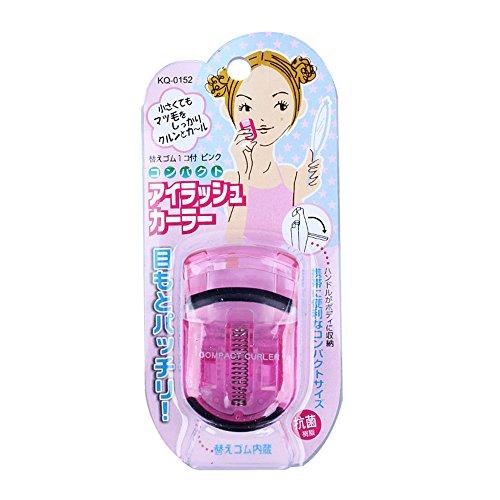 Tragbare Mini-Handbuch Makeup-Werkzeug-Wimper-Augen-Peitsche-Lockenwickler Curling Clip (rosa) 1pc