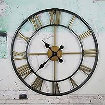 DGF Reloj de pared romano vintage, reloj Reloj de pared antiguo con nostalgia Relojes de pared ( Color : B , Tamaño : Diameter56cm )