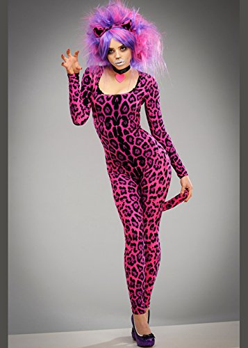 Katze Damen Kostüm Cheshire - Magic Box Int. Damen-Märchenland-Rosa-Cheshire-Katzen-Art-Kostüm S (UK 8-10)