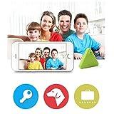 Bescita - Mini balise de localisation GPS Bluetooth pour enfant, animal domestique, clé ou portefeuille Green