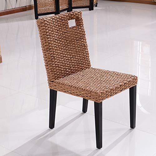 seeksungm Chair, Single Fashion rotin Armchair, Household Natural Handmade Leisure Wicker Chair (Single Piece), hc316