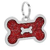 XdremYU Multi-Use-Premium-Hundehalsband, Hund ID-Namensschild Anti-Lost-Anhänger Zubehör Halskette Geschirr Komfortable Permanent & Robust Stark Wasserdicht für große oder kleine Hunde Red