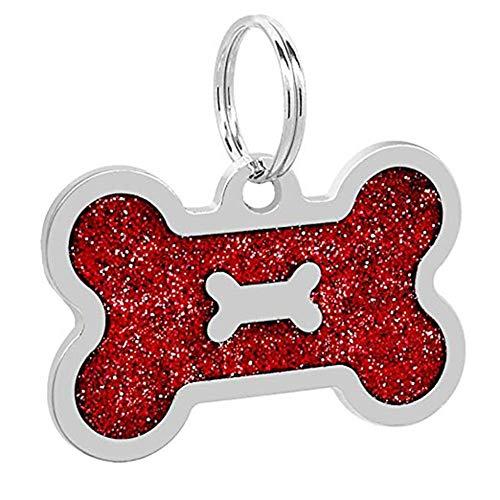 XdremYU Multi-Use-Premium-Hundehalsband, Hund ID-Namensschild Anti-Lost-Anhänger Zubehör Halskette Geschirr Komfortable Permanent & Robust Stark Wasserdicht für große oder kleine Hunde Red - 1-licht Outdoor-aufhänger