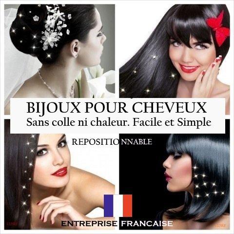12 BIJOUX CHEVEUX CRISTAL BLANC ORNES DE STRASS SWAROVSKI SEPARABLES ET REPOSITIONNABLES. Accessoires cheveux et bijoux de cheveux. SYSTEMES DEFIXATION FOURNI. QUALITE PROFESSIONNELLE.