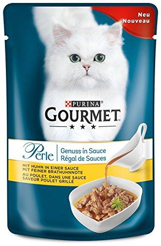 Gourmet Perle Genuss in Sauce mit Huhn, 24er Pack (24 x 85 g Beutel)