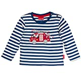 SALT AND PEPPER Baby-Jungen Langarmshirt B Longsleeve Hero Stripe, Blau (Strong Blue 458), 68