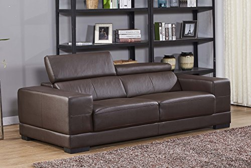 Voll-Leder Sofa 3-Sitzer Ledersofa Sessel Dreisitzer Couch 2017-3-377