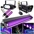 beamz UV Glowing Disco DJ Lights + Smoke Machine + Halloween Party Strobe
