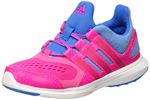 Adidas Hyperfast 2.0 K, Scarpe da Corsa Bambine e Ragazze Azul / Rosa (Azuimp / Rosimp / Rosfue)