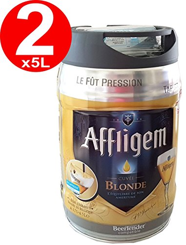 2 x Affligem blonde barrel of 5 liters incl drum. Spout 6,8% vol.