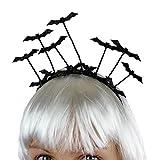 Trendwert Haarreif Vampir Fledermaus für Geburtstag Party Karneval Fasching Halloween Haarschmuck Kostüm-Verkleidung-Zubehör für Damen Mädchen Kinder Frauen Accessoires Halloween Perücke