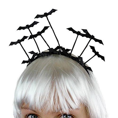 ampir Fledermaus für Geburtstag Party Karneval Fasching Halloween Haarschmuck Kostüm-Verkleidung-Zubehör für Damen Mädchen Kinder Frauen Accessoires Halloween Perücke (Halloween Vampir Maske)