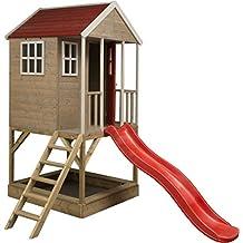 Casita infantil de madera para exterior | Casa de jardín de tipo abierto | casa de