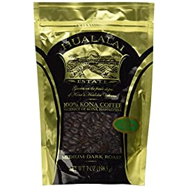Hualalai Estate- 100% PREMIUM Kona Coffee – Medium-Dark Roast 7oz (GROUND)