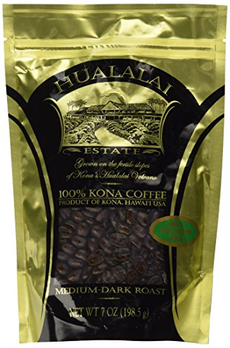 100% Pure PREMIUM Kona Coffee by Hualalai Estate - 198.5g  100% Pure PREMIUM Kona Coffee by Hualalai Estate – 198.5g 51I4BFX1enL