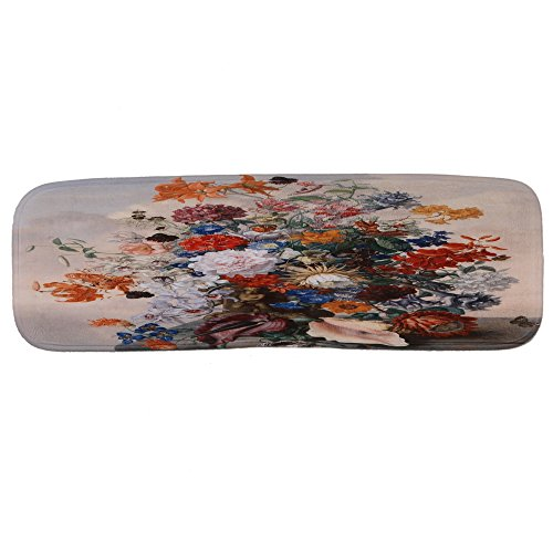 chtdz Rutschfest Treppe Teppichbelag Waschbar Stufenmatten Matte mit Klebeband und Gummi Rückseite, Muster 1, 70x22x1cm
