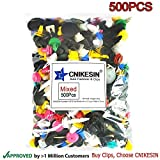 500 x Clips Remaches Plásticos Nylon Para Coche Universales Tipo de Empuje para Guardabarros de Coche Plastico Panel Tapizado (500PCS)