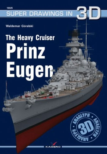 The Heavy Cruiser Prinz Eugen (Super Drawings in 3D) por Waldemar Goralski