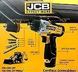 JCB 12V Cordless Screwdriver Drill JCB-CSD 12V PRO (Quick Change System) with PH2