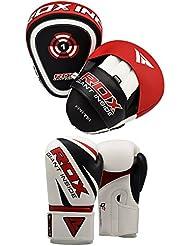 RDX MMA Manoplas Boxeo Paos Muay Thai Kick Boxing Artes Marciales Entrenamiento Patada Pad Saco Guantes
