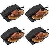 Qingsun 4 pcs Cordon Sac De Rangement De Stockage Organisateur Vêtements Chaussures Pochette Pr Voyage Camping Noir(38*18cm)