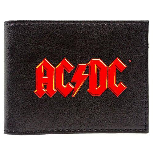 AC/DC Music Rock Band Red Logo Noir Portefeuille