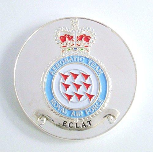 1000 Flags Offizielles RAF Red Arrows 50Jahreszeiten Badge GEDENKMÜNZE Medaille in Sleeve